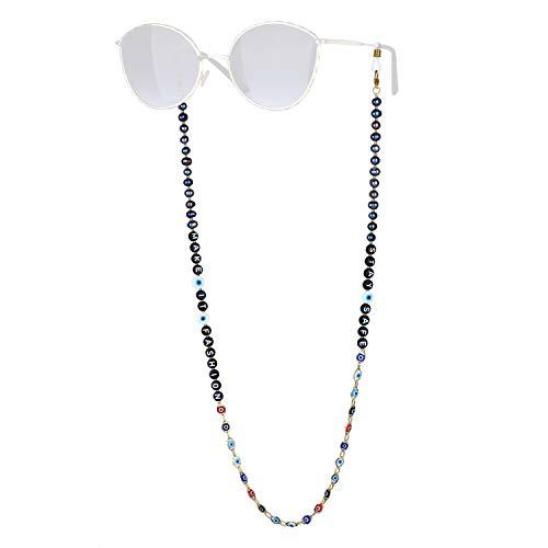 KELITCH 2021 Brillenkettenkordeln Schnurhalter Strapazierfähige Sonnenbrillenbandhalterung Perlenbesetzte Sonnenbrillenkettenkordel
