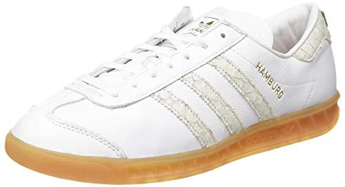 adidas Herren Hamburg Sneaker, FTWR White/Silver Met./Grey Two F17, 44 2/3 EU