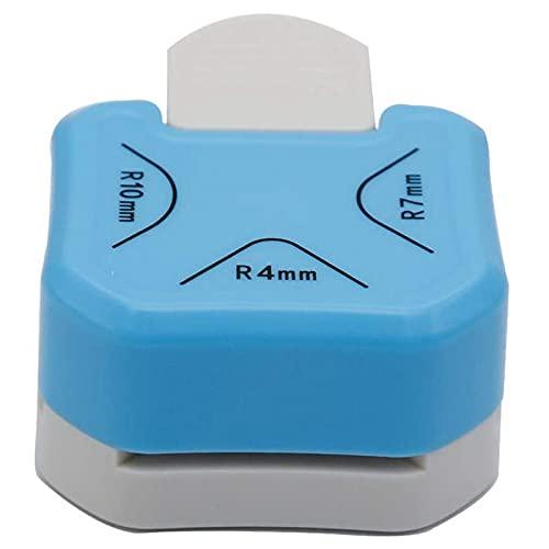 Gaoominy Esquinero Redondeador de Papel 3 en 1 (R4Mm + R7Mm + R10Mm), Punzones de Esquina para Manualidades de Papel, Cortador de Esquina DIY, FabricacióN de Tarjetas, 3 Piezas