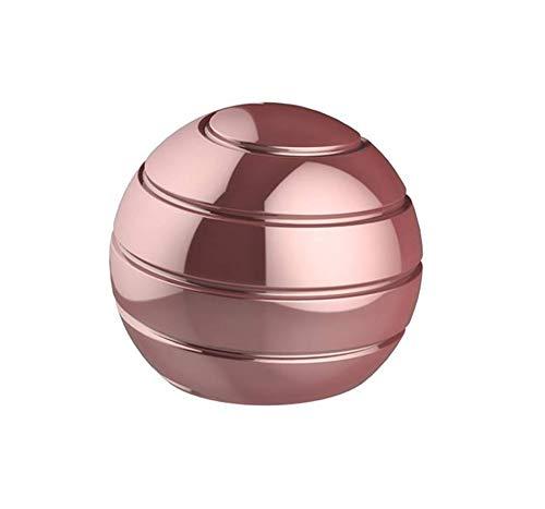 CaLeQi Kinetic Schreibtischspielzeug Office Metal Spinner Ball Gyroskop mit optischer Täuschung für Anti-Angst Stress abbauen Inspirieren Sie innere Kreativität-urchmesser: 38mm (Pink)