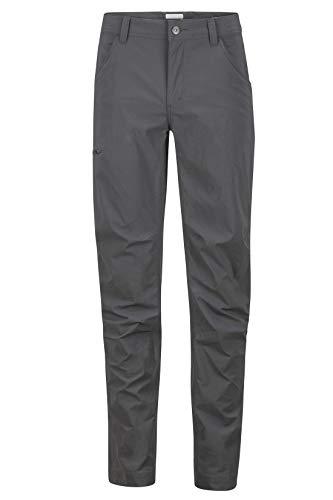 Marmot Arch Rock Pant Pantalones de Trekking Softshell, Pantalones para Caminar, Transpirables y repelentes al Agua, Hombre, Slate Grey, S