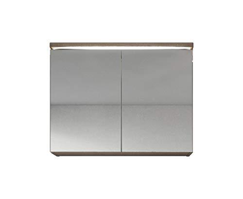 Badplaats B.V. Spiegelschrank Paso 80 cm Sonoma Eiche hell - Schrank Spiegelschrank Spiegel Badezimmer Badmöbel Hängeschrank