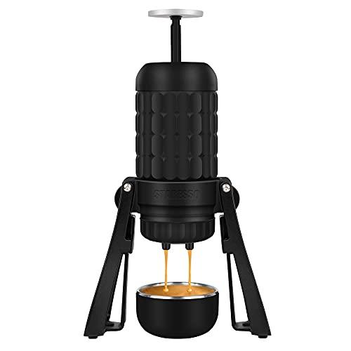 STARESSO Tragbare Espressomaschine Manuelle Kaffeemaschine bis zu 20 Bar Hoher Druck 180ml/6oz Wassertank Geeignet für Kaffeepulver, Professionelle kleine Reisekaffeemaschine für Zuhause Büros Camping