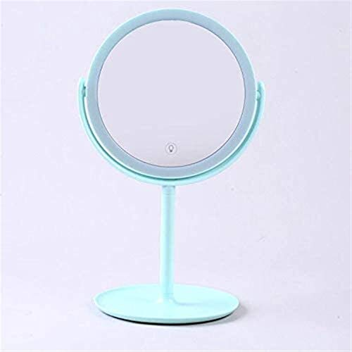 xingchen Espejo de Maquillaje Pantalla táctil Espejo de baño con LED Brillo, Chica Plegable de Escritorio Recargable portátil Espejo for Grils Cosmético (Color : B)