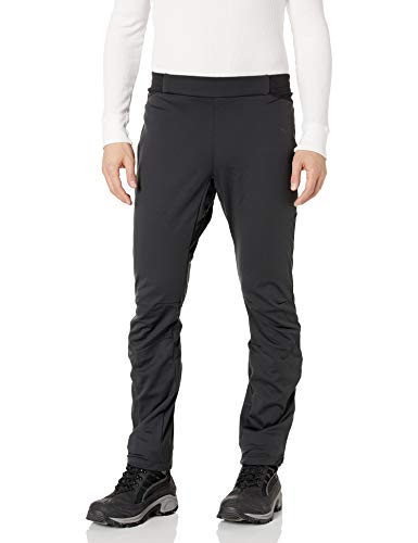 Craft Mens Force Nordic Cross Country Skiing and Training Reflective 3-Layer Softshell Pants, Medium, Black