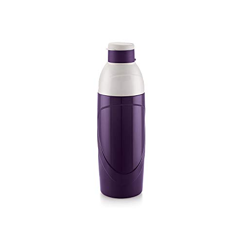 Insulated Kids BPA Free Water Bottle 20 Oz (600 ml) Puro Classic Easy Carry Ergonomic Bottle with Wide Mouth and Easy Flip Top Cap for Office, Gym, Running Reusable Drinking Containerby Cello (Purple)