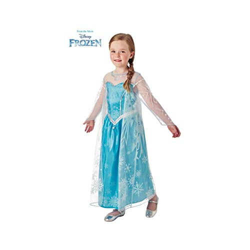 Disney Frozen - Disfraz de princesa Elsa para nia, infantil 5-6 aos (Rubie's 630574-M)