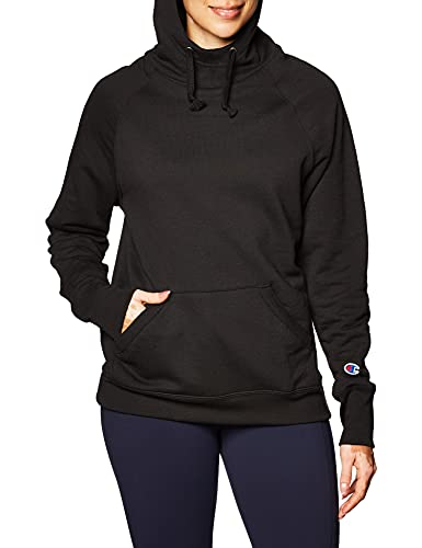 Product Image of the Champion Women's Powerblend Fleece Hoodie, Black, Medium
