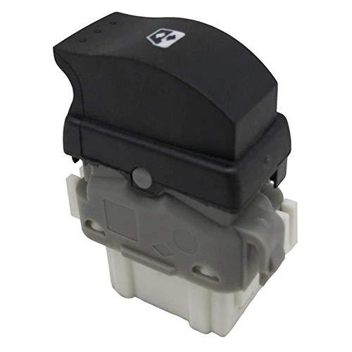 SHOUNAO Ajuste para Renault Megane 2 Escenic 2 Laguna 2 Ventana Regulador Interruptor Interruptor Botón de Control de Potencia Trasera 8200315024 (Color Name : Black)