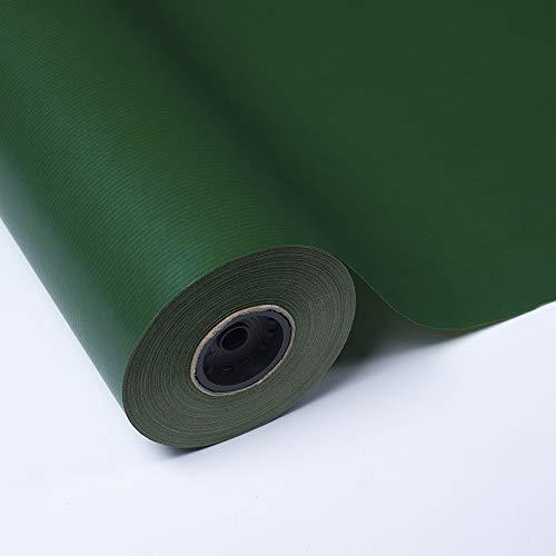 PAKOT Rollo Papel de Regalo Kraft Verjurado Verde - Bobina Grande 70CM X 100M - para Envoltorio y Negocios