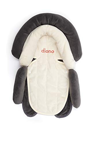 Diono Cuddle Soft 2-in-1 Baby Head Neck Body Support Pillow for Newborn Baby Super Soft Car Seat Insert Cushion, Perfect for Infant Car Seats, Convertible Car Seats, Strollers, Gray/Artic