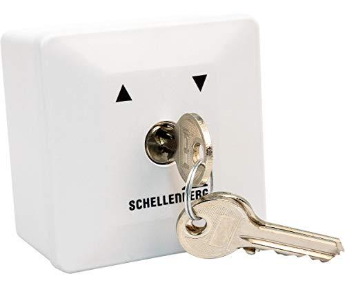 Schellenberg 25101 Schlüsselschalter Aufputz austauschbarer Schließzylinder inkl. 3 Schlüssel, zur Steuerung von elektrischen Garagen-, Außen- und Drehtorantrieben
