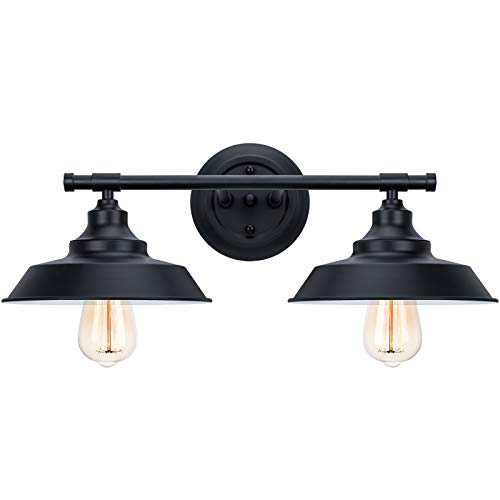 Bathroom Vanity Light Wall Sconce Industrial Kitchen Wall Lighting Oil Rubbed Black Baking Paint Finish (2-Light)