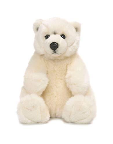 WWF WWF16867 Plüsch Eisbär sitzend, realistisch gestaltetes Plüschtier, ca. 22 cm groß und wunderbar weich