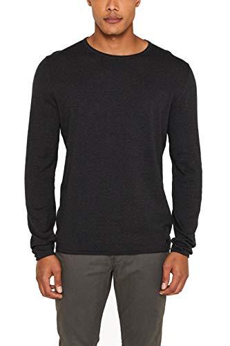 edc by ESPRIT Herren 997CC2I800 Pullover, Grau (Dark Grey 020), Medium
