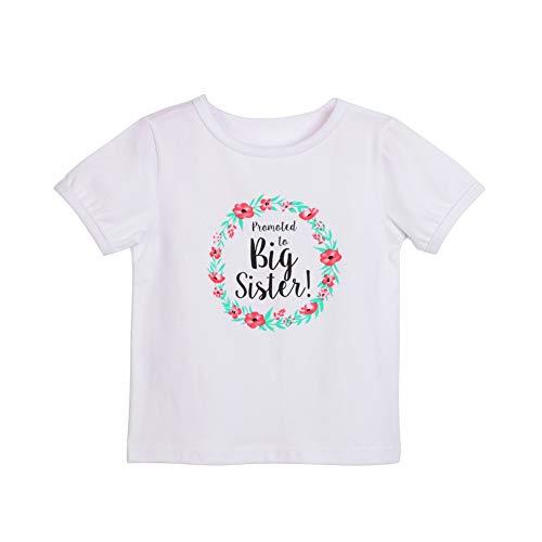 Bobora Baby-Strampler für Mädchen, Baumwolle, für Schwestern und Brüder, 0–7 Jahre Gr. 4-5 Jahre, B Große Schwester