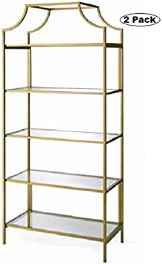 Better Homes and Gardens Nola - (Gold, (2 Pack), Bookcase)