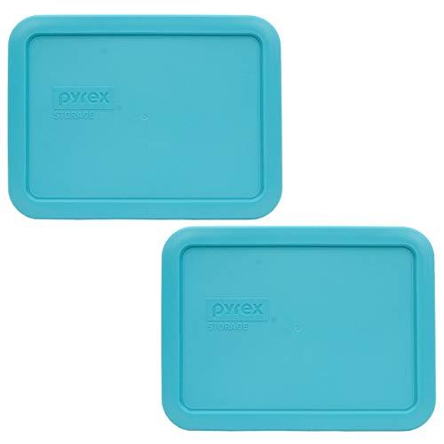Pyrex 7210-PC Surf Blue Plastic Rectangle Replacement Storage Lids - 2 Pack