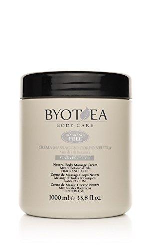 Byothea Crema Massaggio Corpo Neutra senza Profumo - 1000 ml