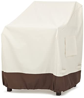 AmazonBasics Dining Arm Chair Outdoor Patio Furniture Cover, Set of 2