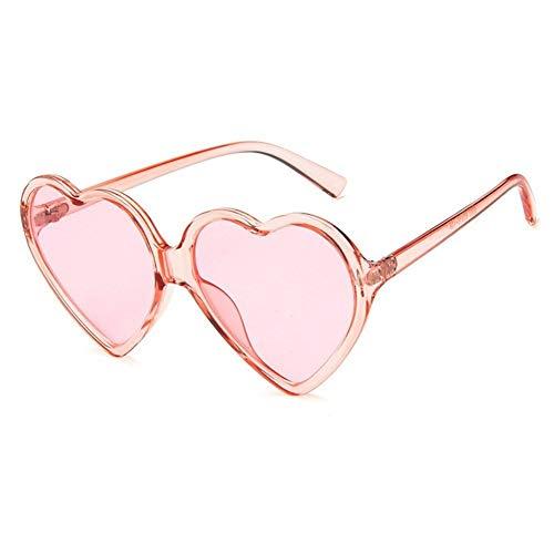 FKJSP Amor del corazón Gafas de Sol de Las Mujeres Atractivas de la Manera Retro Lindo del Ojo de Gato Barato de la Vendimia Gafas de Sol Rojo púrpura del té Lente UV400 Mujer (Lenses Color : Pink)