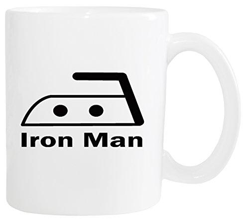 Mister Merchandise Kaffeetasse Iron Man Bügeln Teetasse Becher, Farbe: Weiß