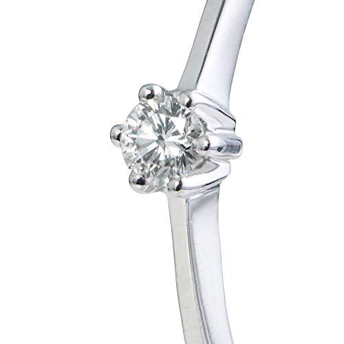 Valdonna Verlobungsring aus 9 Karat (375) Weißgold | mit Diamant | Brillantschliff 0.05ct | Größe 54 | für Damen |Ring | Gold