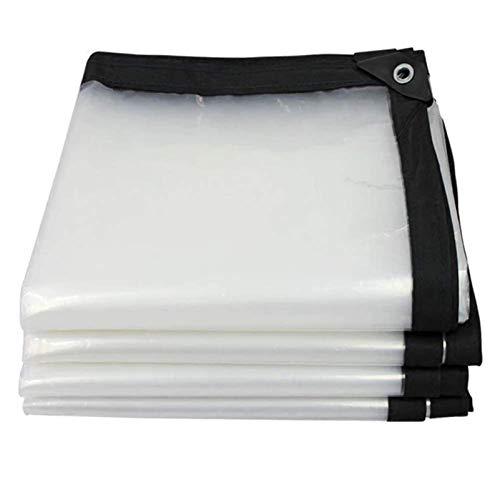 SACYSAC Hoja de Lona Gruesa de plástico al Aire Libre Sombra del toldo de Tela Transparente Impermeable de Tela Lluvia Tela de Lona, 0.12mm,3x8m