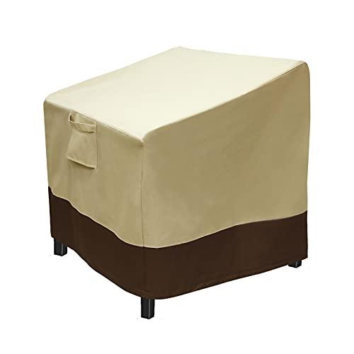 Mokyler Sitzbezug für Terrassenstuhl, strapazierfähig, wasserdicht, für den Außenbereich, Gelb, Größe S