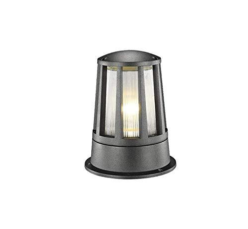 GUOGUOSM Sencillo y moderno Pilar de césped Linterna de poste de aluminio Fundición a presión Acrílico Columna Luz Europeoal aire libre Impermeable