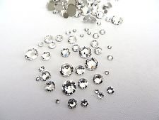 GENUINE SWAROVSKI CRYSTALS CLEAR (001) RHINESTONE GEMS ARTICLE 2058 - MIXED PACK 200PCS