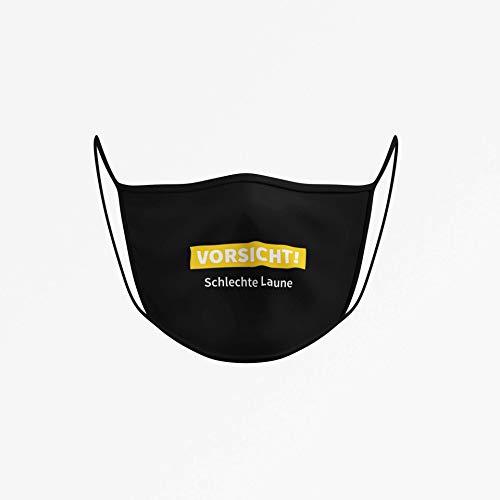 Dilara Masken mit Motiv - Lustige Masken für Gesicht aus Baumwolle (Vorsicht schlechte Laune)
