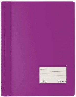 5er Sparpack DURABLE Hunke & Jochheim Schnellhefter DURALUX®, transluzente Folie, für A4 Überbreit, 280x332mm (5 Stück, lila)