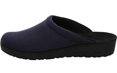 Rohde 4320 Roma Damen Pantoffeln Hausschuhe, Größe:42 EU, Farbe:Blau