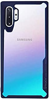 IPAKY Cover case for Samsung note 10 plus with a clear back and a Dark Blue frame
