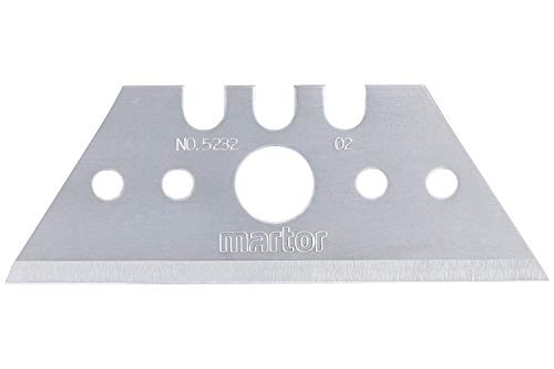 Martor 5232 5232.70 Trapezersatzklinge für Mizar, Grau/Stahlblau, 53 x 0,63 x 19 mm