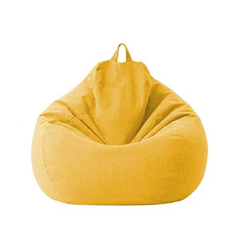 Fodere per sacco a sacco Sedia da gioco per bambini adulti Immagazzinaggio Sedia per divano pigro Fodera per sedia a sacco Fodera impermeabile Sedia per interni ed esterni (Yellow, 100 * 120cm)