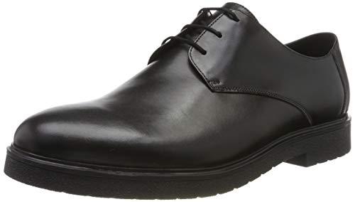 Clarks Ashcroft Plain, Scarpe Stringate Brouge Uomo, Nero (Black Leather Black Leather), 41 EU