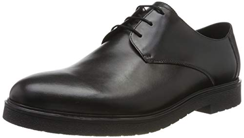 Clarks Ashcroft Plain, Scarpe Stringate Brouge Uomo, Nero (Black Leather Black Leather), 41 EU