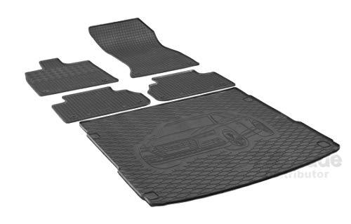 Rigum Passende Gummimatten und Kofferraumwanne Set geeignet für Audi Q5 ab 2017 + Gurtschoner