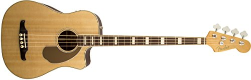 Fender Kingman Bass SCE Acoustic-Electric Bass Guitar - Natural - with Case