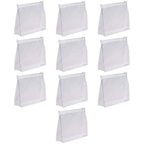 BCP 10 PCS Mini Small PVC Transparent Plastic Cosmetic Organizer Bag Pouch With Zipper Closure,Travel Toiletry Makeup Bag