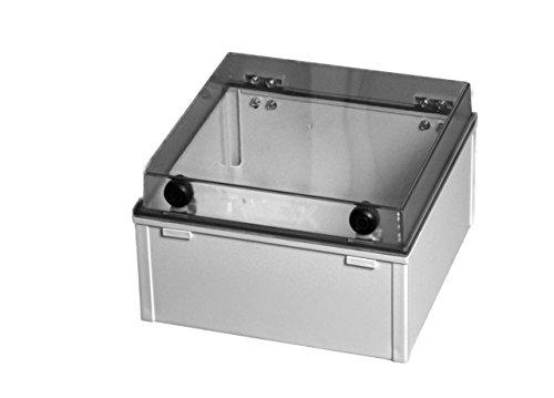 Kunststoffgehäuse mit Plexiglas-Deckel 300x200x180mm (LxBxH)