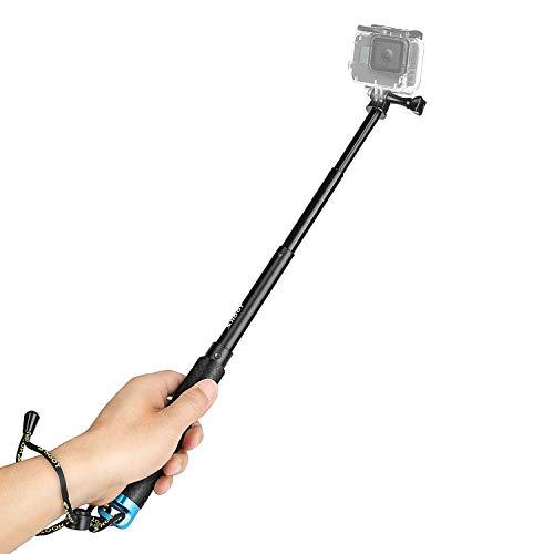 SHOOT-Palo-Selfie-Stick-Monopod-de-Telescopica-Ajustable-de-Aluminio-para-Hero-8-Hero-7Hero2018HERO6HERO5-SJCAM-SJ4000-SJ5000-SJ6000-Xiaomi-Yi-APEMAN-Victure-WiMiUS-Crosstour-Camara-de-Accion