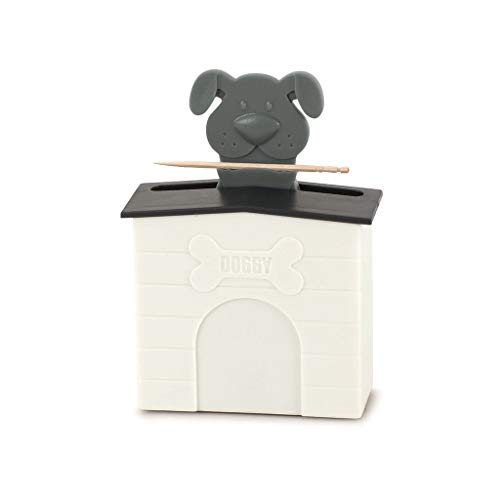 balvi Zahnstocherbehälter Woof! Farbe Schwarz Dank eines raffinierten Mechanismus Werden die Zahnstocher wie von magischer Hand herausgeschoben 8,9 x 7,8 x 3,6 cm