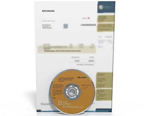MS Office 2010 Professional Deutsch Vollversion Original Microsoft DVD 32/64 Bit / Lizenz befindet sich auf der Rechnung