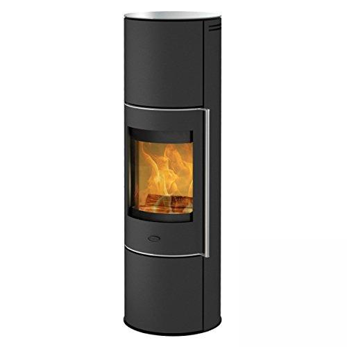 Fireplace K6031 Perondi Kaminofen RLU Stahl Schwarz | Topplatte Glas/A+
