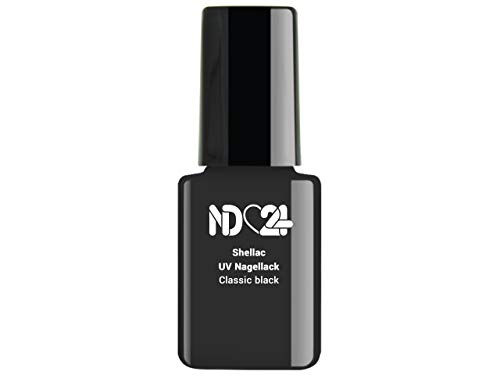 Shellac Uv/Led Nagellack - Classic Black - Schwarz - Studio Qualität - Made in Germany - 12ml