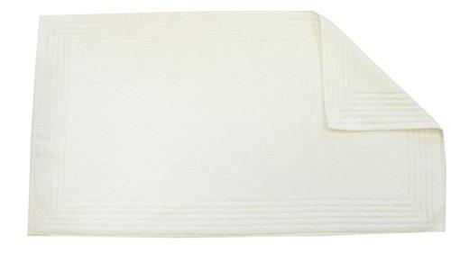 Blanc des Vosges Eponge Unie Tapis de Bain Coton Blanc 50 x 90 cm