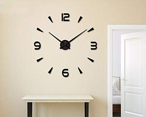 Wanduhren Große Uhr Uhr Horloge 3D DIY Acryl Spiegel Aufkleber Quarz Duvar Saat Klock Moderne stumme Wanduhren